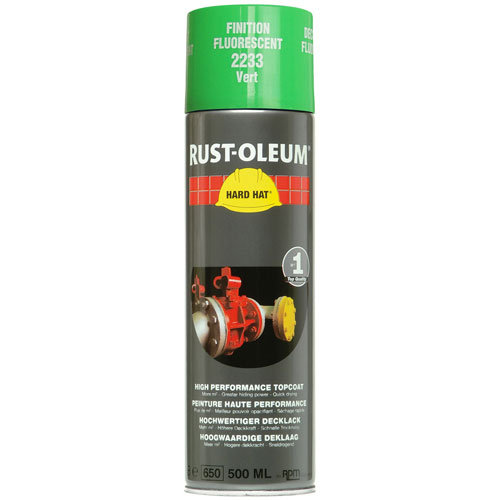 Rustoleum Hard Hat Topcoat Fluorescent Green 2233