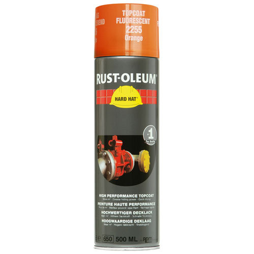 Rustoleum Hard Hat Topcoat Fluorescent Orange 2255