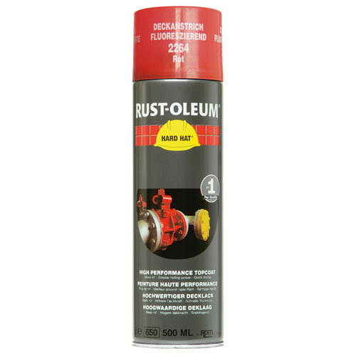 Rustoleum Hard Hat Topcoat Fluorescent Red 2264