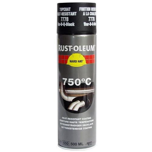 Rustoleum Hard Hat Heat Resistant Black 750 Degrees C 7