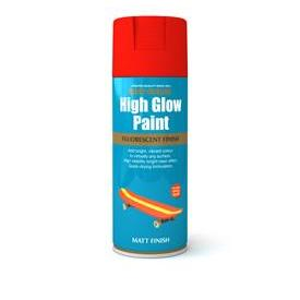 Rustoleum High Glow Paint Red Orange Matt