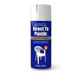 Rustoleum Direct To Plastic White Gloss