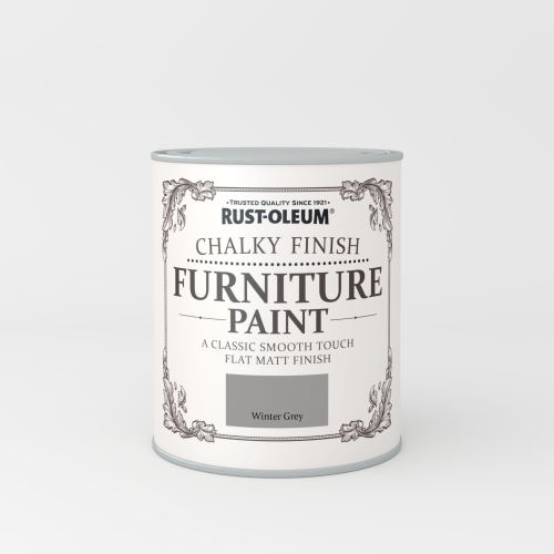 Rustoleum Chalky Finish Furniture Paint Winter Grey Matt - 750ml