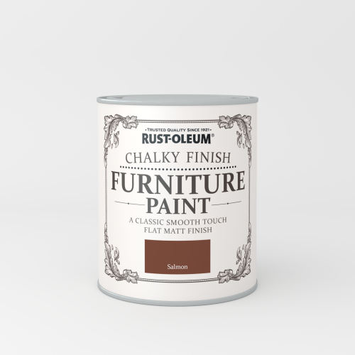 Rustoleum Chalky Finish Furniture Paint Salmon Matt - 750ml