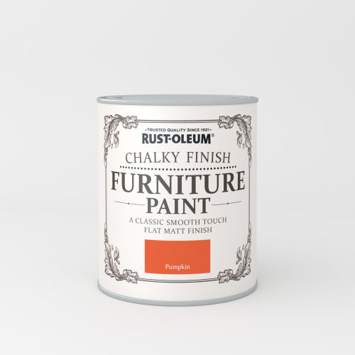 Rustoleum Chalky Finish Furniture Paint Pumpkin Matt - 750ml