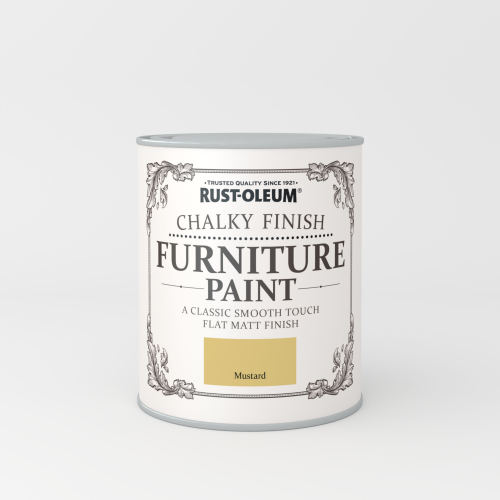 Rustoleum Chalky Finish Furniture Paint Mustard Matt - 750ml