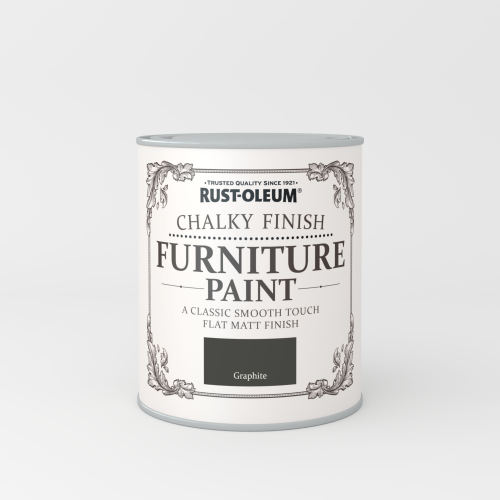 Rustoleum Chalky Finish Furniture Paint Graphite Matt - 750ml