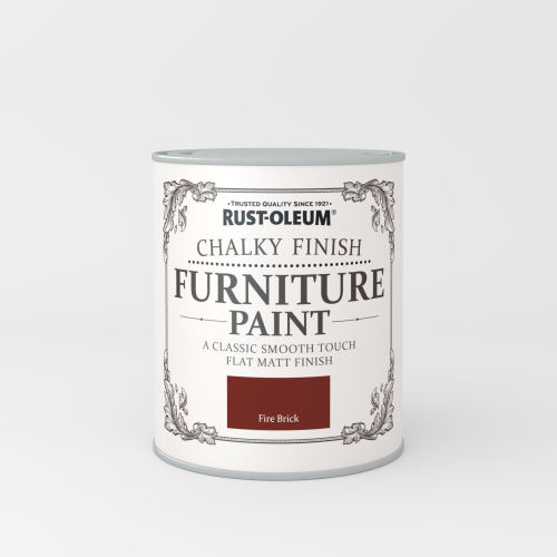 Rustoleum Chalky Finish Furniture Paint Fire Brick Matt - 750ml