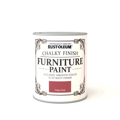 Rustoleum Chalky Finish Furniture Paint Dusky Pink Matt - 750ml