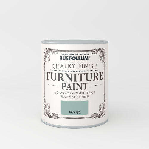Rustoleum Chalky Finish Furniture Paint Duck Egg Matt - 750ml