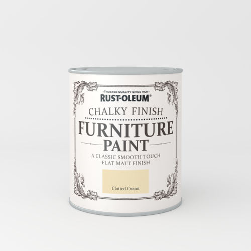 Rustoleum Chalky Finish Furniture Paint Clotted Cream Matt - 750