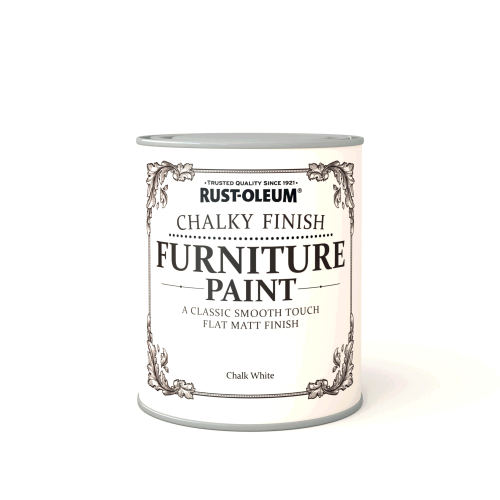 Rustoleum Chalky Finish Furniture Paint Chalk White Matt - 750ml