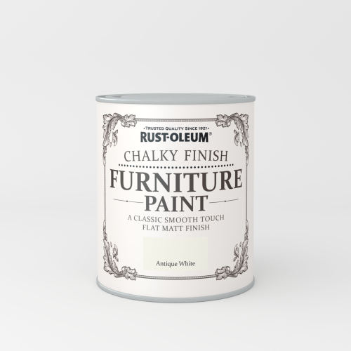Rustoleum Chalky Finish Furniture Paint Antique White Matt - 750