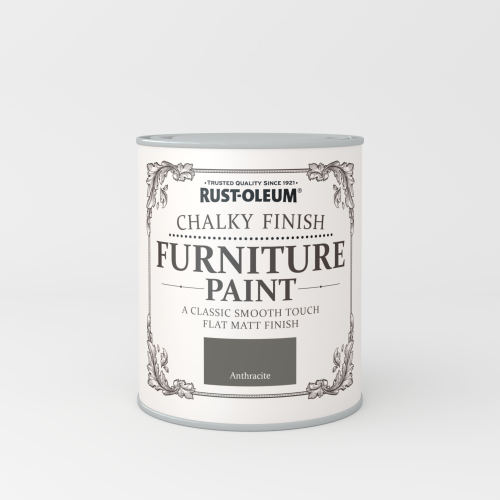 Rustoleum Chalky Finish Furniture Paint Anthracite Matt - 750ml