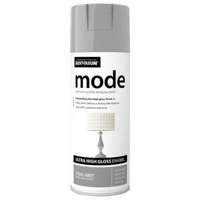 Rustoleum Mode Steel Grey Enamel Gloss Spray