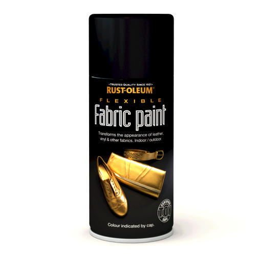 Rustoleum Flexible Fabric Paint Black (Spray) 150ml