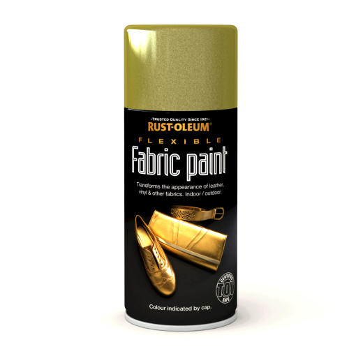 Rustoleum Flexible Fabric Paint Gold (Spray) 150ml
