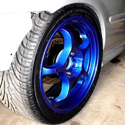 rustoleum coloured metalic blue spray 400ml